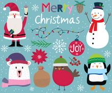 Cute Christmas Character, Sant...