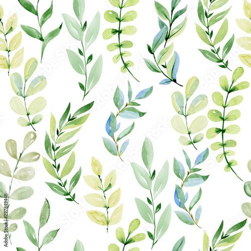 Montage in der Fensternische Künstlich Watercolor seamless pattern