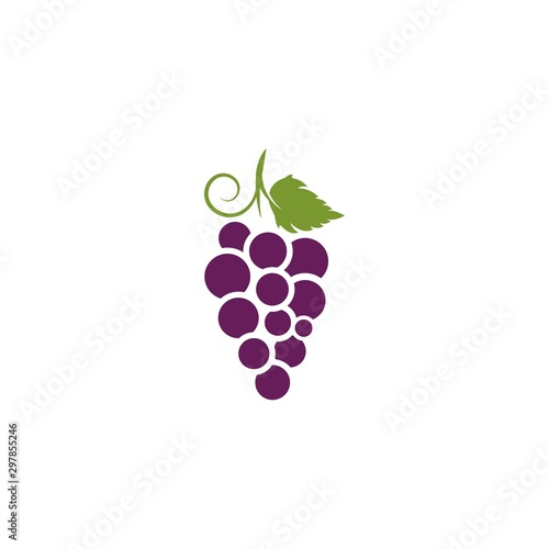 Stampa su Tela Grapes vector icon illustration design