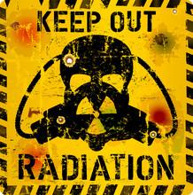 Radiation Warning Sign, Skull ...