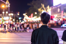 Peoples Walking  Crossing The ...