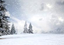 Magical Christmas Card With Fa...