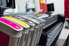 Close Detail Of Ink Cartridges...