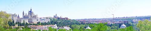 Foto op Plexiglas Panoramafoto s Paisaje urbano de Madrid, España, Europa