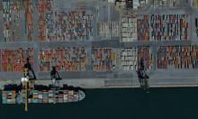 Cargo Port Of Adelaide, Austra...
