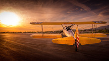 Oldtimer Aircraft Sunset
