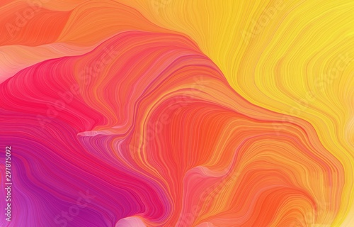 futuristic wavy motion speed lines background or backdrop with indian red, pastel orange and tomato colors. good for design texture #297875092
