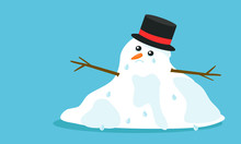 Cuite Sad Melting Snowman With...
