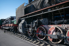 Old Steam Locomotive In An Ope...