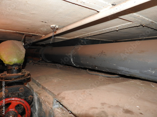 Underground Soviet bunker in its original form, Moscow, Russia Wallpaper Mural