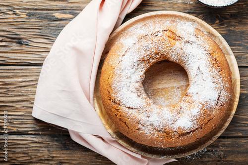 Homemade Bundt cake Fototapet