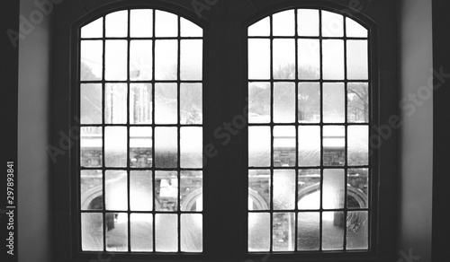 Fototapeta Stained Glass Black and White