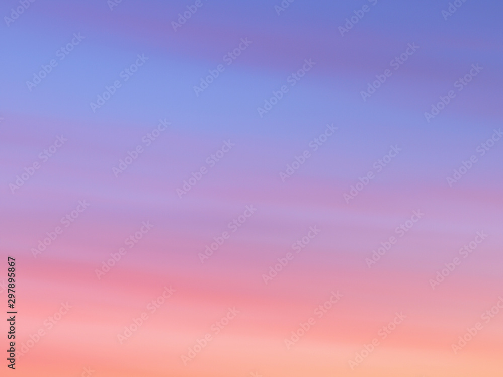 Fototapety, obrazy: Beautiful abstract nature sunset or sky as background. Abstract pastel soft colorful smooth blurred textured background off focus toned. Beautiful sunset sky as backdrop. Ronamtic rainbow sunrise