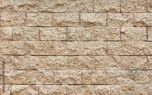 Stone tilled wall texture masonry background Canvas Print