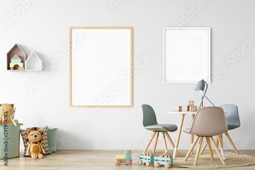 Fotomural  Frame & Poster mock up in living room