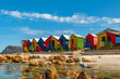 colorful cabins on beach at Muizenberg Cape Town