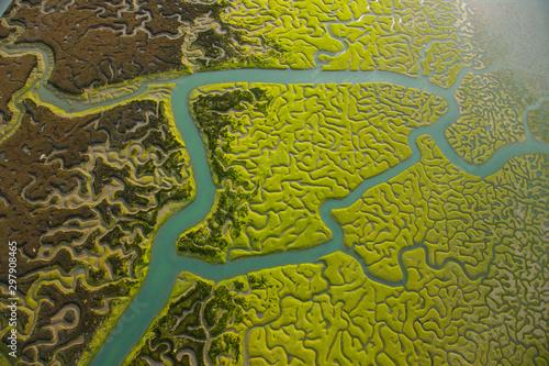 Aerial view, marshlands, Bahia de Cadiz Natural Park Tapéta, Fotótapéta