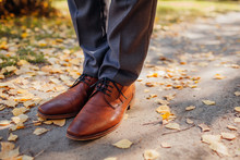 Businessman Wearing Shoes In A...