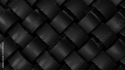 Obraz Carbon fiber mesh background, 3d render illustration. - fototapety do salonu