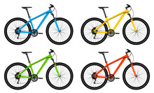 Set Of Bicycles. Colorful Bike...