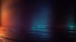Leinwanddruck Bild - Empty studio room. Dark background. Abstract dark empty studio room texture.  Product showcase spotlight background.