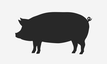 Vector Pig Silhouette. Pig S...