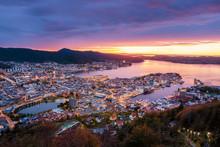 Beautiful View Of Bergen City ...