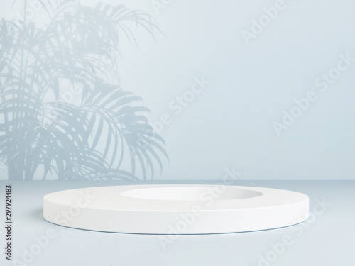 Winner podium with tropic shadow background, 3d rendering 3d illustration Fototapete