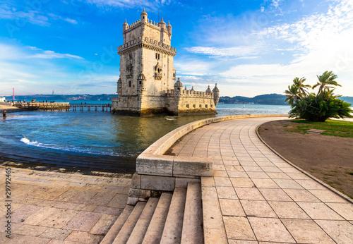 Torre of Belem - famouse landmark of Lisbon, Portugal