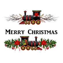 Little Christmas Train With Wa...
