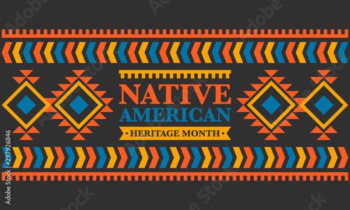 Stampa su Tela Native American Heritage Month in November