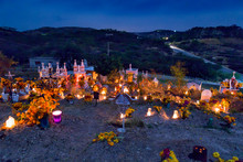 Cemetery Decoration In A Day Of The Dead Mexican Tradition