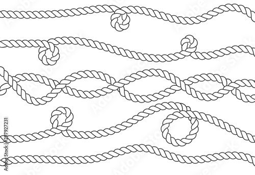 Fotografering Nautical rope knots