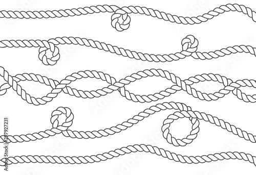 Fototapeta Nautical rope knots obraz