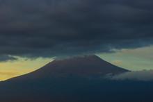 Volcano ,The Popocatepetl In The Morning, Puebla , Mexico