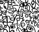 Fototapeta Młodzieżowe - Black and white pattern.Seamless background, texture.