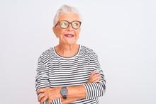 Senior Grey-haired Woman Weari...