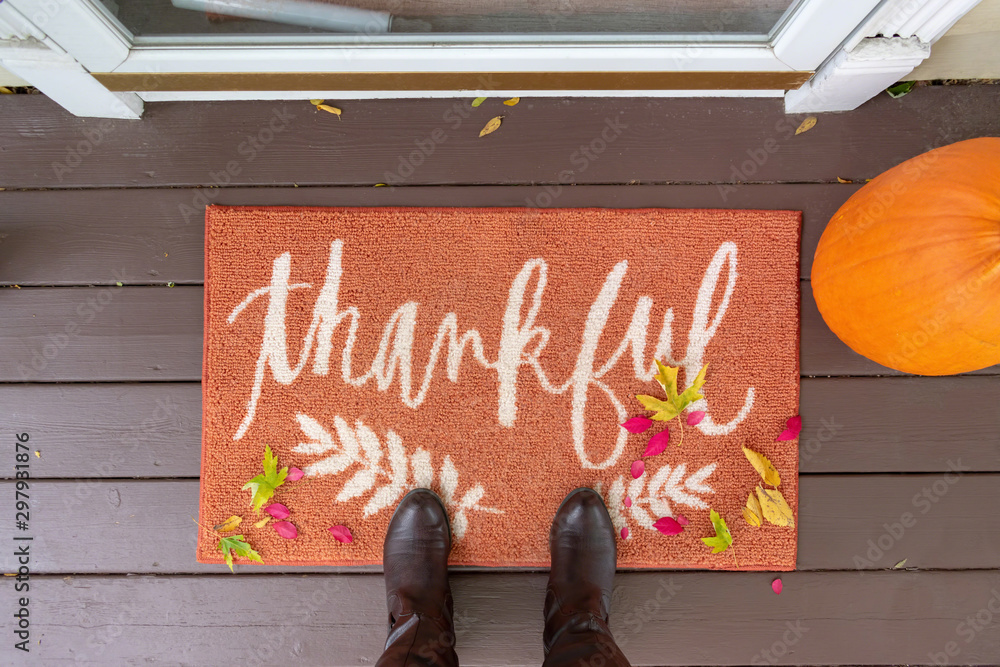 Fototapety, obrazy: Welcome mat with the word