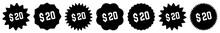 20 Price Tag Black | 20 Dollar...