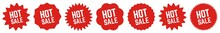 Hot Sale Tag Red | Special Offer Icon | Sticker | Deal Label | Variations