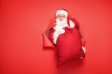 Santa Claus With The Big Gift ...