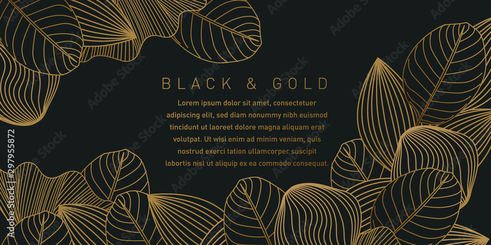 Czarne i złote tło wzór <span>plik: #297955872 | autor: Bitterheart</span>