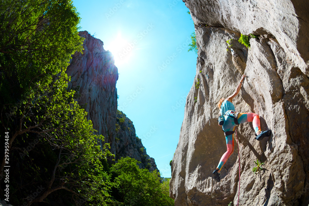 Fototapety, obrazy: Rock climbing and mountaineering in the Paklenica National Park.