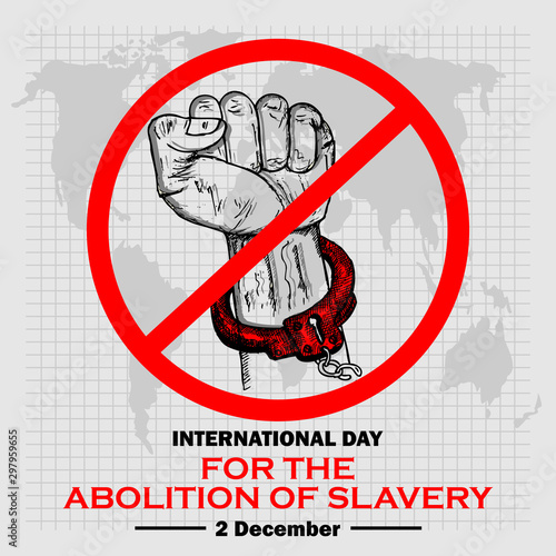 International Day for Abolition of Slavery, Poster and Banner Canvas Print