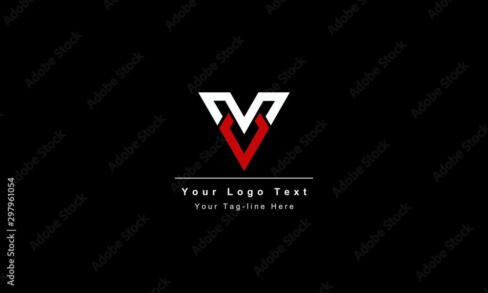 Fototapety, obrazy: Abstract letter V logo design. Creative,Premium Minimal emblem design template. Graphic Alphabet Symbol for Corporate Business Identity. Initial VV vector element