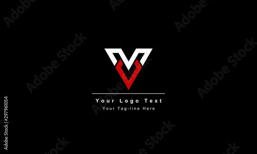 Abstract letter V logo design Canvas Print