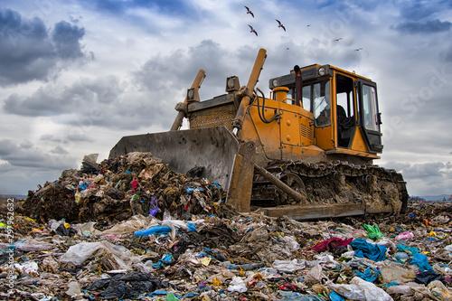 bulldozer working Fototapet