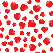 Background With Hearts. Red Mesh Hearts. Vector Illustration