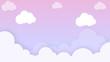 Leinwandbild Motiv Clouds cartoon on blue sky, background. Concept for children and kindergartens or presentation