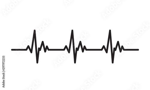 Photo  Heartbeat line icon